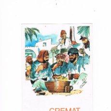 Coleccionismo de vinos y licores: FOLLETO PUBLICIDAD CREMAT PUJOL ANTIGUO. Lote 53018390
