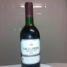 Coleccionismo de vinos y licores: ANTIGUA BOTELLA DE VINO PARA BEBER O COLECCION VALLOBERA CRIZANZA 1996 LAGUARDIA RIOJA ALAVESA. Lote 53291378