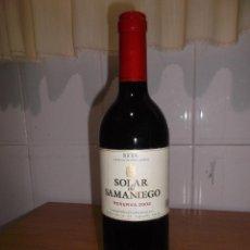 Coleccionismo de vinos y licores: VINO SOLAR DE SAMANIEGO AÑO 2002 - RESERVA.. Lote 53881405