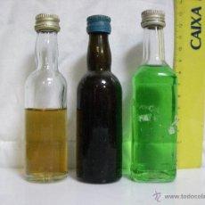 Coleccionismo de vinos y licores: LOTE Nº 5 **** 3 ANTIGUOS BOTELLINES / BOTELLAS PEQUEÑAS DE COLECCIÓN PRIVADA ****. Lote 54005388