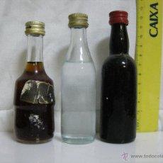 Coleccionismo de vinos y licores: LOTE Nº 6 **** 3 ANTIGUOS BOTELLINES / BOTELLAS PEQUEÑAS DE COLECCIÓN PRIVADA ****. Lote 54005424