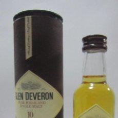 Coleccionismo de vinos y licores: BOTELLIN DE WHISKY GLEN DEVERON. . Lote 54083674