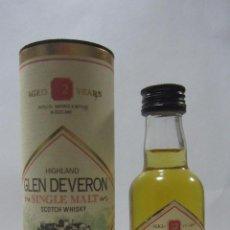Coleccionismo de vinos y licores: BOTELLIN DE WHISKY GLEN DEVERON. . Lote 54083690
