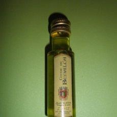 Coleccionismo de vinos y licores: BOTELLA PEQUEÑA ACEITE CONDE DE BENALÚA NUEVA PRECINTADA BOTELLITA MINIATURA. Lote 54397293