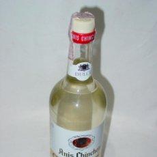 Coleccionismo de vinos y licores: BOTELLA ANIS CHINCHON GREGORIO SAEZ. PERCINTO 4 PESETAS. CIRCA 1960-70. Lote 54433758