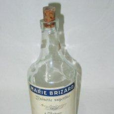 Coleccionismo de vinos y licores: BOTELLA VACIA ANISETTE SUPERFINE MARIE BRIZARD. BOURDEAUX. PASAJES. ANIS. 1 LITRO. CIRCA 1940-50. Lote 54451533