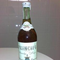Coleccionismo de vinos y licores: BOTELLA ANTIGUA DE BRANDY VIEJO PRINCIPE PRECINTO 4 PESETAS CUATRO PERFECTA . Lote 54729048