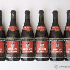 Coleccionismo de vinos y licores: 5 BOTELLAS ANTIGUAS LEGITIMO PRIORATO DE MULLER, GRAN VINO TINTO 3º AÑO, NUMERADA. VINO TARRAGONA. Lote 54736700