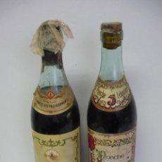 Coleccionismo de vinos y licores: LEHMANN BRANDY CLASICO ESPAÑOL RESERVA 4 AÑOS Y PONCHE RESERVA 5 AÑOS TAPON DE CORCHO. Lote 54977206