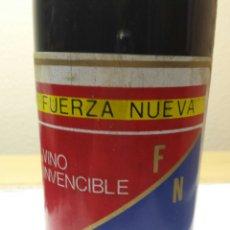 Coleccionismo de vinos y licores: BOTELLA VINO CONMEMORATIVA A FUERZA NUEVA. Lote 55145314