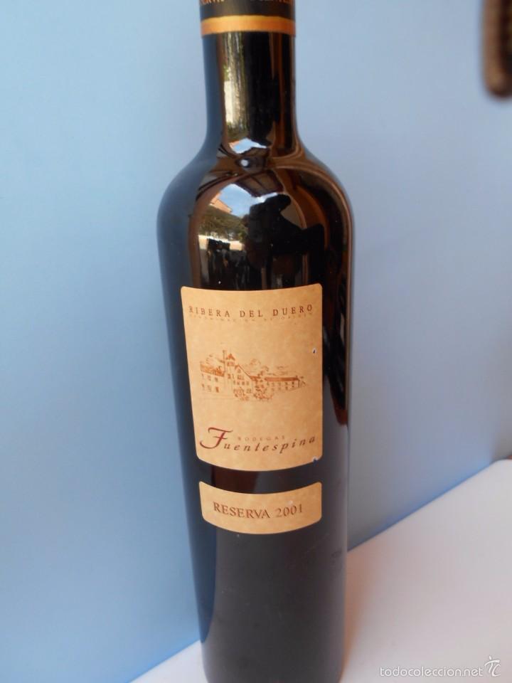 VINO DE RIBERA DEL DUERO DE 2001 (Coleccionismo - Botellas y Bebidas - Vinos, Licores y Aguardientes)