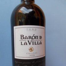 Coleccionismo de vinos y licores: VINO DE TORO, VARÓN DE LA VILLA, CRIANZA 2009. Lote 55384754