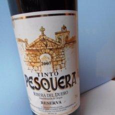 Coleccionismo de vinos y licores: VINO RIBERA DEL DUERO RESERVA DE 2007. Lote 55388032