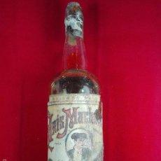Coleccionismo de vinos y licores: ANTIGUA BOTELLA DE ANIS MACHAQUITO - 30 CM. - POR LA MITAD - HIJO DE RAFAEL REYES - . Lote 55569502
