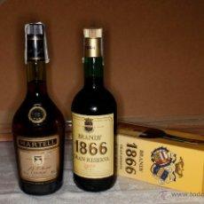 Coleccionismo de vinos y licores: LOTE 2 BOTELLAS NUEVAS COÑAC MARTELL Y BRANDY 1866 CAJA ORIGINAL DE1980. Lote 55801697