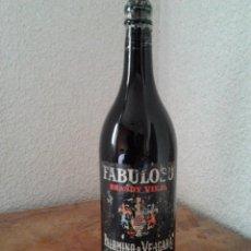 Coleccionismo de vinos y licores: BRANDY VIEJO FABULOSO PALOMINO & VERGARA. Lote 55802231