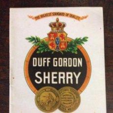 Coleccionismo de vinos y licores: DUFF GORDON. Lote 55864717