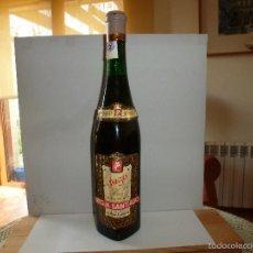 Coleccionismo de vinos y licores: 1-EXCELENTE Y RARA BOTELLA CUADRADA DE RIOJA SANTIAGO( HARO) DE 1958 VINO YAGO BLANCO SECO COLECION. Lote 56025698