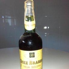 Coleccionismo de vinos y licores: BOTELLA DE DIEZ BRANDY VIEJA SOLERA DIEZ HERMANOS DE 80 OCHENTA CENTIMOS REGALO PARA HOMBRES. Lote 56026781