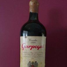 Coleccionismo de vinos y licores: GRAN BOTELLA GURPEGUI - VINO COSECHA DE 1994 - LUIS GURPEGUI MUGA - EDICIÓN ESPECIAL 5L - 43 CM. Lote 56096349