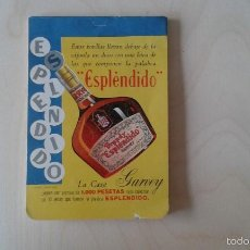 Coleccionismo de vinos y licores: LIBRETA ANTIGUA ( AÑOS 80 ) DE ESPLÉNDIDO DE GARVEY. Lote 117190423