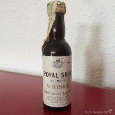Botellín Whisky Royal Spot Blended - Scott Roger & Nixon - SA - Año 1973 - Ceuta con Impuesto