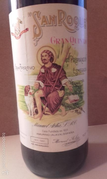 Coleccionismo de vinos y licores: botella san roque gran quinado - manuel acha - amurrio - alava - Foto 2 - 56695928