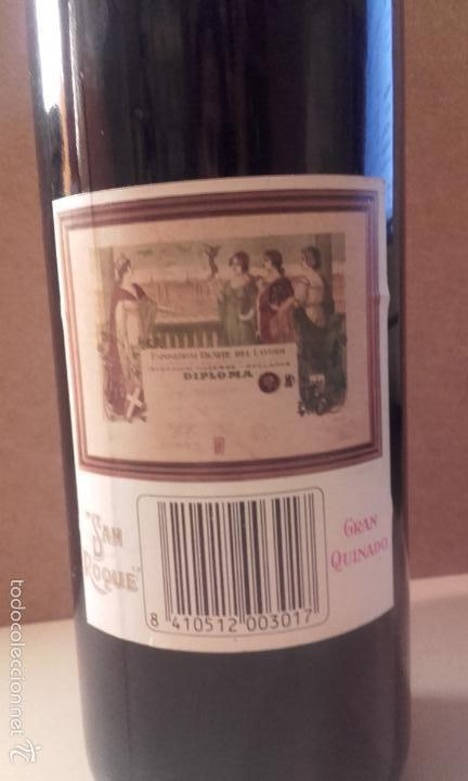 Coleccionismo de vinos y licores: botella san roque gran quinado - manuel acha - amurrio - alava - Foto 3 - 56695928