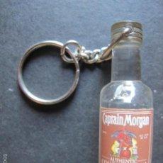 Coleccionismo de vinos y licores: LLAVERO BOTELLITA RON CAPTAIN MORGAN BEBIDA. Lote 56948019