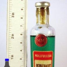 Coleccionismo de vinos y licores: BOTELLITA BOTELLIN MOLLFULLEDA PEPPERMINT DESTILERIAS MOLLFULLEDA ARENYS DE MAR BARCELONA. Lote 56985009