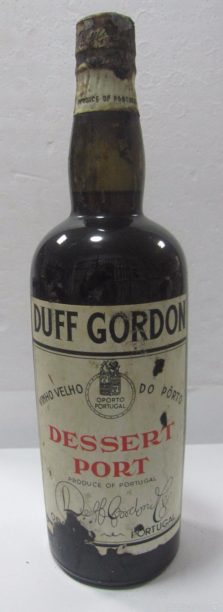 BOTELLA DE VINO DESSERT PORT. DUFF GORDON. PORTUGAL. (Coleccionismo - Botellas y Bebidas - Vinos, Licores y Aguardientes)