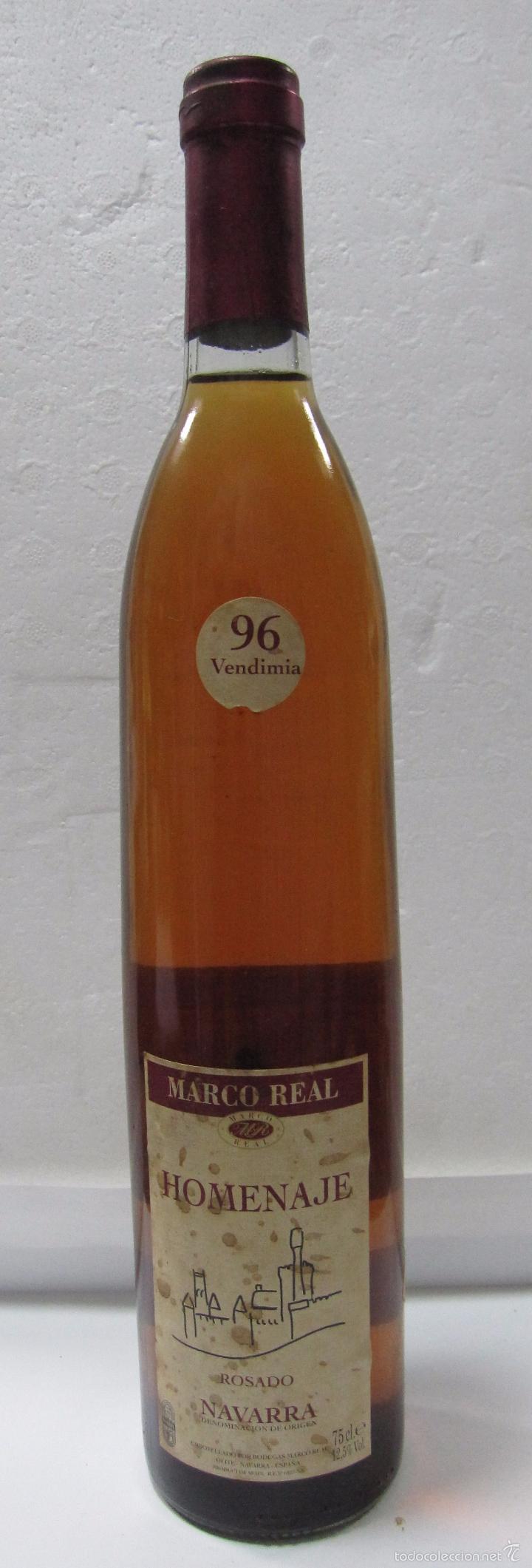 botella de vino rosado. homenaje. bodegas marco - Comprar ...