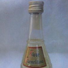 Coleccionismo de vinos y licores: BOTELLIN LICOR CARMELITANO. MINIATURA BOTELLA.. Lote 58383584