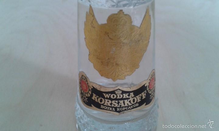 Coleccionismo de vinos y licores: Precioso Botellin cristal -- KORSAKOFF -- Wodka -- Sin abrir -- - Foto 3 - 58484706