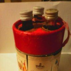 Coleccionismo de vinos y licores: ESTUCHE BOTELLINES BRANDY FUNDADOR, FINO LA INA, VIÑA 25. BODEGAS PEDRO DOMECQ. JEREZ. . Lote 58615190