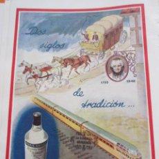 Coleccionismo de vinos y licores: PUBLICIDAD 1948 - COLECCION BEBIDAS - MARIE BRIZARD COLECCION TRANSPORTES . Lote 59071245