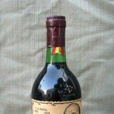 Coleccionismo de vinos y licores: BOTELLA DE VINO - FRANCISCO FRANCO, 50 ANIVERSARIO DE LA VICTORIA 1989. Lote 59151665