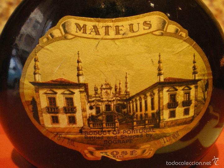 Coleccionismo de vinos y licores: BOTELLA MATEUS. SOGRAPE. VINHOS DE PORTUGAL. ROSE WINE - Foto 2 - 59722511
