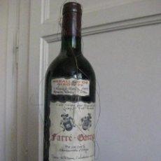 Coleccionismo de vinos y licores: MEDALLA D'OR GIROVI 99 - BOTELLA DE VINO DEL PENEDÈS DE LA BODEGA FARRÉ GARRIGA SIN ABRIR. Lote 59911267