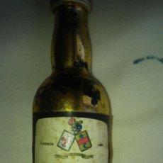 Coleccionismo de vinos y licores: ANTIGUO BOTELLIN QUITAPENAS DE MALAGA. Lote 60200359