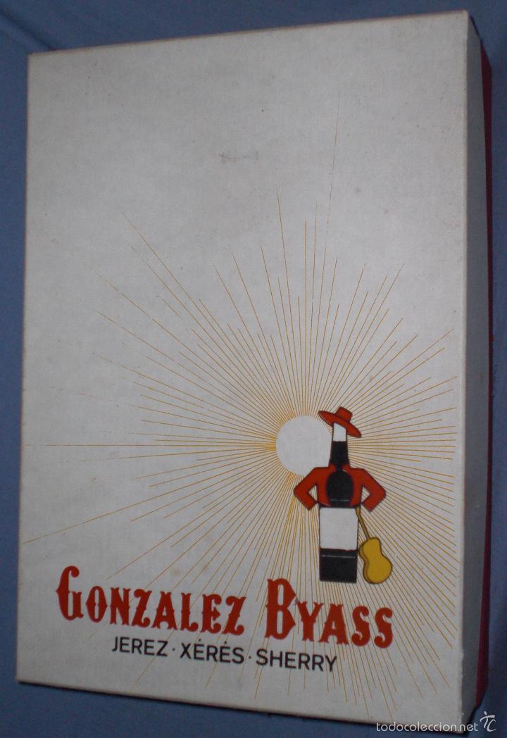 TIO PEPE GONZALEZ BYASS, CAJA DE LUJO AÑOS 60 SIN USAR (Coleccionismo - Botellas y Bebidas - Vinos, Licores y Aguardientes)