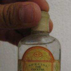 Coleccionismo de vinos y licores: MUY RARA BOTELLA BOTELLIN DRY GYN ROMAR JUAN RODRIGUEZ DESTILERIAS LINARES GINEBRA. Lote 61142223