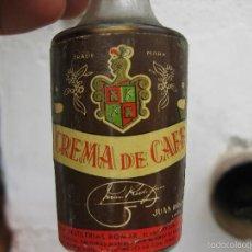 Coleccionismo de vinos y licores: MUY RARA BOTELLA BOTELLIN CREMA DE CAFE ROMAR JUAN RODRIGUEZ DESTILERIAS LINARES ORGULLO NACIONAL. Lote 61142435