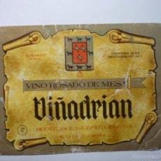 Coleccionismo de vinos y licores: ETIQUETA VINO VIÑADRIAN . Lote 61160223