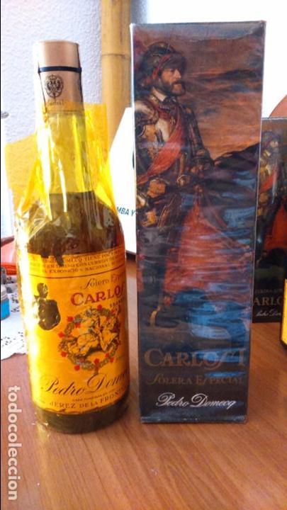 BOTELLA DE BRANDY SOLERA ESPECIAL CARLOS I, PRECINTO 4 PTS (Coleccionismo - Botellas y Bebidas - Vinos, Licores y Aguardientes)
