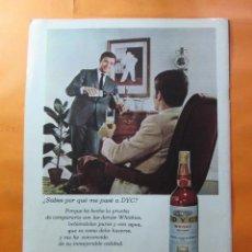 Coleccionismo de vinos y licores: PUBLICIDAD 1970 - COLECCION BEBIDAS - WHISKY DYC . Lote 62180004