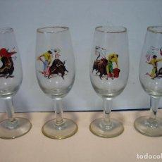 Coleccionismo de vinos y licores: COPAS PARA VINO CON MOTIVOS TAURINOS. Lote 62309288