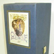 Coleccionismo de vinos y licores: BONITA BOTELLA 70CL. DISEÑADA POR DALÍ,BRANDY JEREZ CONDE DE OSBORNE,SOLERA GRAN RESERVA,CON ESTUCHE. Lote 62444532