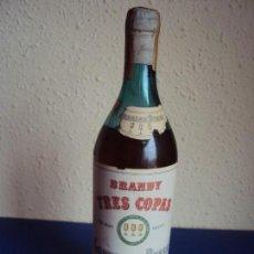 Coleccionismo de vinos y licores: (LI-161701)BRANDY TRES COPAS,PRECINTO 80 CTS.. Lote 62882856