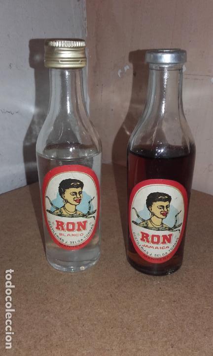 LOTE DE 2 BOTELLITA BOTELLA RON JAMAICA - SELGA TORRAS MANRESA - SIN ABRIR (Coleccionismo - Botellas y Bebidas - Vinos, Licores y Aguardientes)